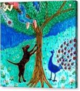 Guard Dog And Guard Peacock  Acrylic Print