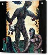 Guarden Of Eden Or Guardians Of Eden Original Available Acrylic Print