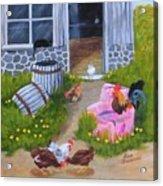 Guarding The Hen House Acrylic Print
