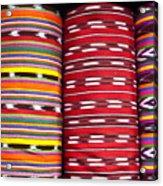 Guatemalan Textiles 2 Acrylic Print by Douglas Barnett