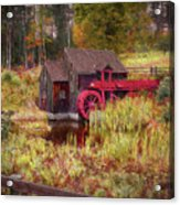 Guildhall Grist Mill In Fall Acrylic Print