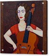 Guilhermina Suggia - Woman Cellist Of Fire Acrylic Print