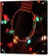 Guitar And Lights Acrylic Print