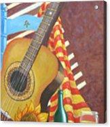 Guitar And Oranges Acrylic Print