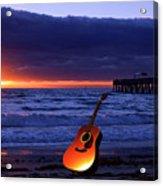 Guitar At Sunrise Acrylic Print