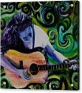 Guitar Heroine Acrylic Print