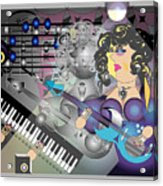 Guitar Lady Acrylic Print
