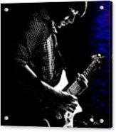 Guitar Man In Blue Acrylic Print by Meirion Matthias