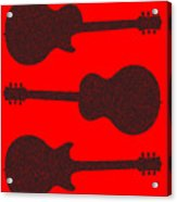 Guitar Silhouette Background Acrylic Print