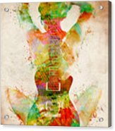 Guitar Siren Acrylic Print by Nikki Smith