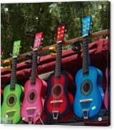 Guitars In Old Town San Diego Acrylic Print by Anna Lisa Yoder