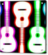 Guitars On Fire 5 Acrylic Print by Andy Smy