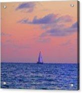 Gulf Coast Sailboat Acrylic Print