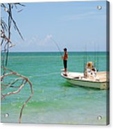 Gulf Fisherman Acrylic Print by Steven Scott