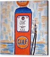 Gulf Gas Pump Acrylic Print