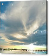 Gulf Shores Al Pier Seascape Sunrise 152a Acrylic Print