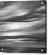 Gulf Sunset In Black And White Acrylic Print
