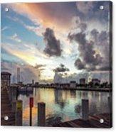 Gulfport Harbor Colors Acrylic Print