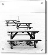 Gull Lake Winter Study 3 Acrylic Print