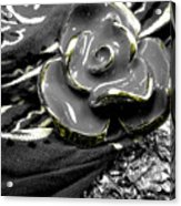 Gum Wrapper - Gold Acrylic Print