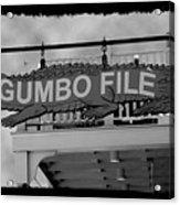 Gumbo File Acrylic Print