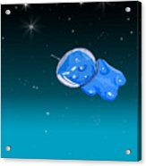 Gummy Bear In Space Acrylic Print