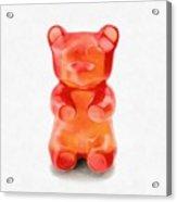 Gummy Bear Red Orange Acrylic Print