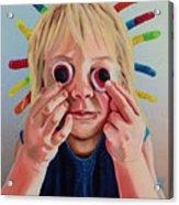 Gummy Eyes Gummy Worms Acrylic Print