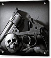 Gun And Skull Acrylic Print