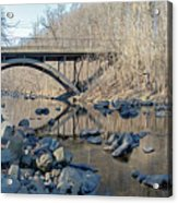 Gunpowder Falls St Pk Bridge - Pano Acrylic Print