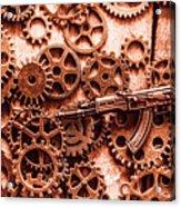 Guns Of Machine Mechanics Acrylic Print