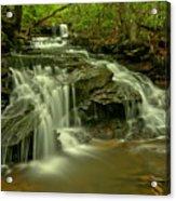 Gushing At Cave Falls Acrylic Print