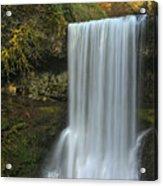 Gushing At Silver Falls Acrylic Print