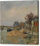 Gustave Loiseau 1865 - 1935 Marie Bridge In Paris Acrylic Print