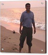 Guy At La Playa Acrylic Print