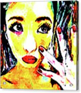 Gyaru's Broken Nail Acrylic Print