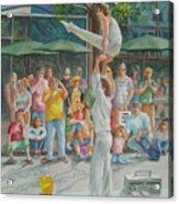 Gymnast Acrylic Print by Charles Hetenyi