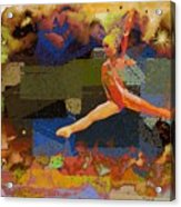 Gymnast Girl Acrylic Print