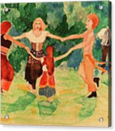 Gypsies Dancing Acrylic Print