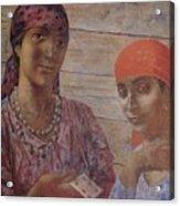 Gypsies Kuzma Petrov-vodkin - 1926-1927 Acrylic Print