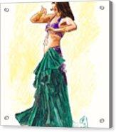 Gypsy Acrylic Print by Brandy Woods
