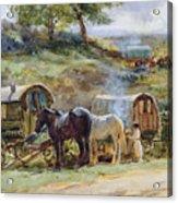 Gypsy Encampment Acrylic Print