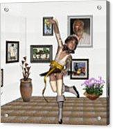 Digital Exhibartition _  Dancing Girl  Acrylic Print
