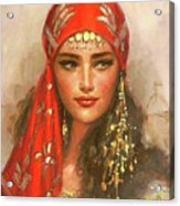 Gypsy Girl Portrait Acrylic Print