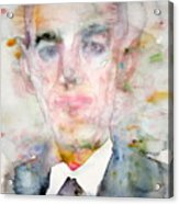 H. P. Lovecraft - Watercolor Portrait.3 Acrylic Print
