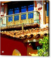 Hacienda Balcony By Darian Day Acrylic Print