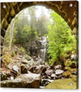 Hadlock Falls Under Carriage Road Arch Acrylic Print