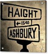 Haight Ashbury Acrylic Print