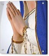 Hail Mary Full Of Grace Acrylic Print