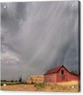 Hail Shaft And Montana Barn Acrylic Print